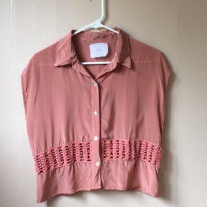 revolve acacia silk shirt